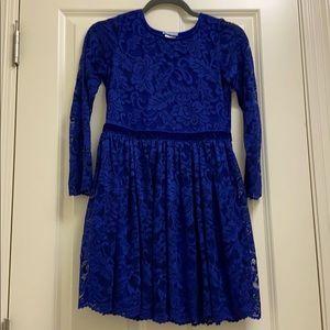 Chasing Fireflies size 14 girls blue lace dress